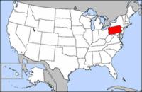 Mapa Pensilvania EE UU