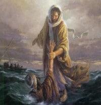 Jesus salvando a Pedro