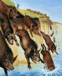 Los cerdos endemoniados Jesus