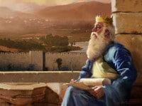 Salomon mirando Jerusalem