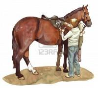 Hombre y su caballo
