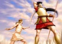 El gigante Goliat y David