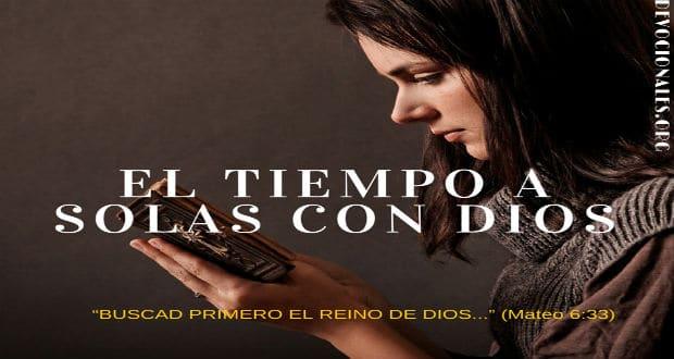 El tiempo a solas con dios devocionales cristianos for El tiempo en st hilari sacalm