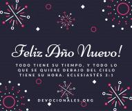 Feliz Año Nuevo Eclesiastes 3:1