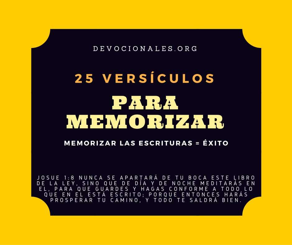 Versículos De La Biblia Para Memorizar