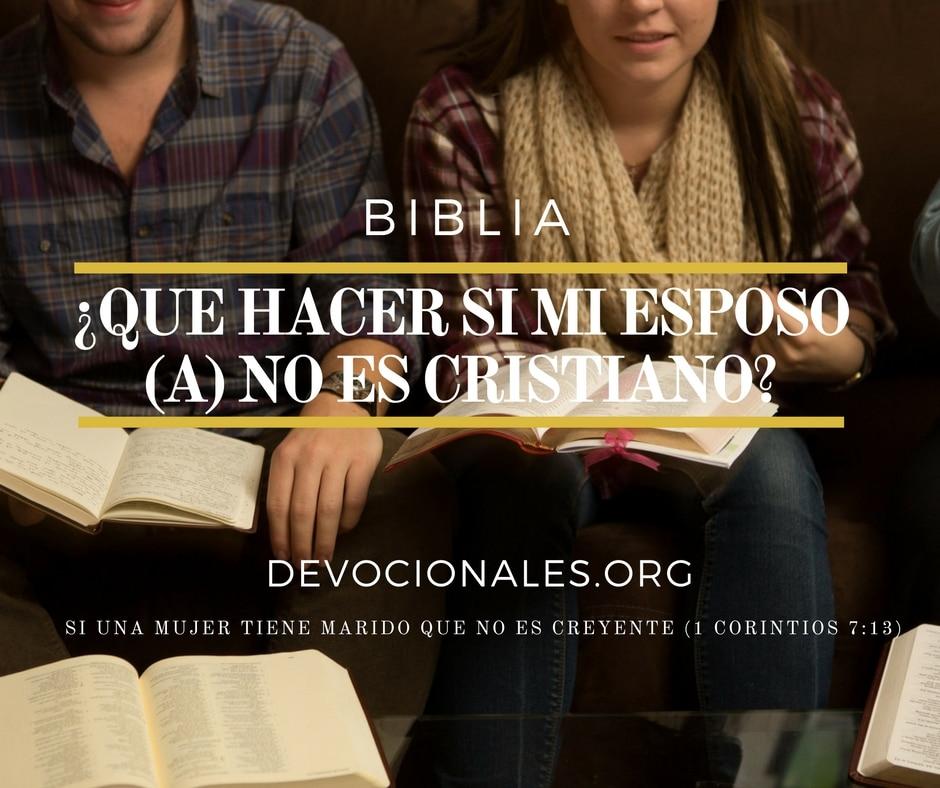 Esposo no es cristiano Biblia