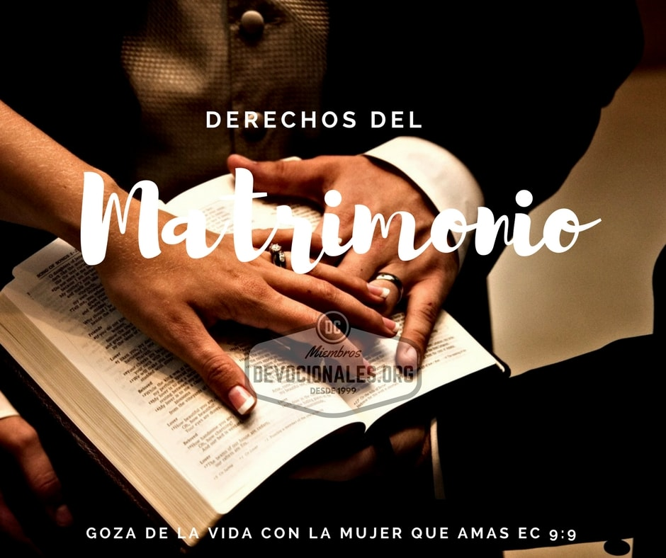 El Matrimonio La Biblia : Derechos y deberes del matrimonio cristiano según la biblia