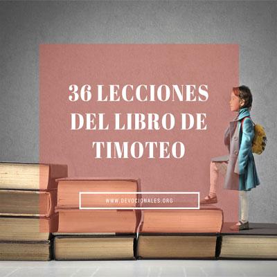 Lecciones Para Escuela Dominical - Libro De Timoteo