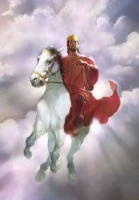 Jesus en los cielos caballo