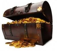 Un cofre de oro Tesoro
