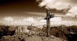 cruz de cristo en el monte