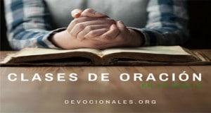 Clases de oración biblia tipos