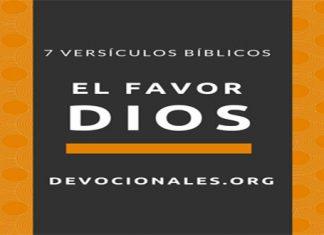 favor de Dios textos bíblicos
