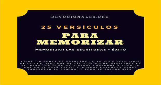 25 Excelentes Versiculos De La Biblia Para Memorizar