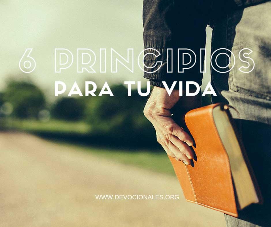 6 Principios para tu vida cristiana