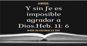 Fe certeza total de agradar a Dios