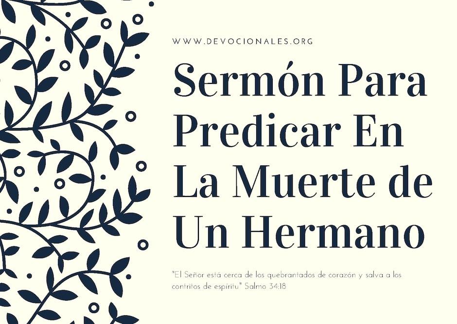 sermon-predicar-muerte-hermano