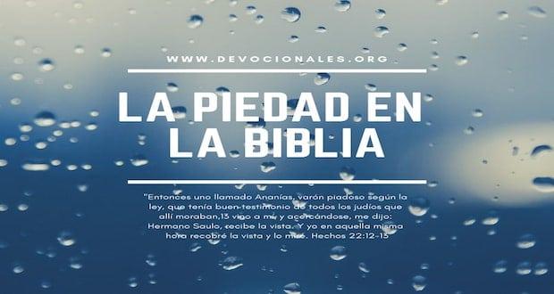 Piedad En La Biblia 12 Ejemplos Poderosos Con Versículos